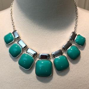 SALE/NEW ITEM/Monet Turquoise&Silvertone Necklace
